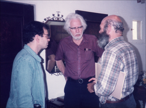 From left to right: Michael Horowitz, Sasha Shulgin, Andrew Weil.