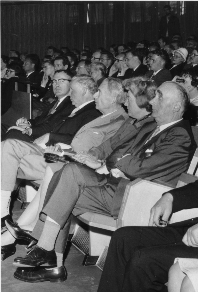 Leary and the Huxleys at the 14th Annual Congress of Applied Psychology, Copenhagen, Aug. 1961 Original: NYPL
