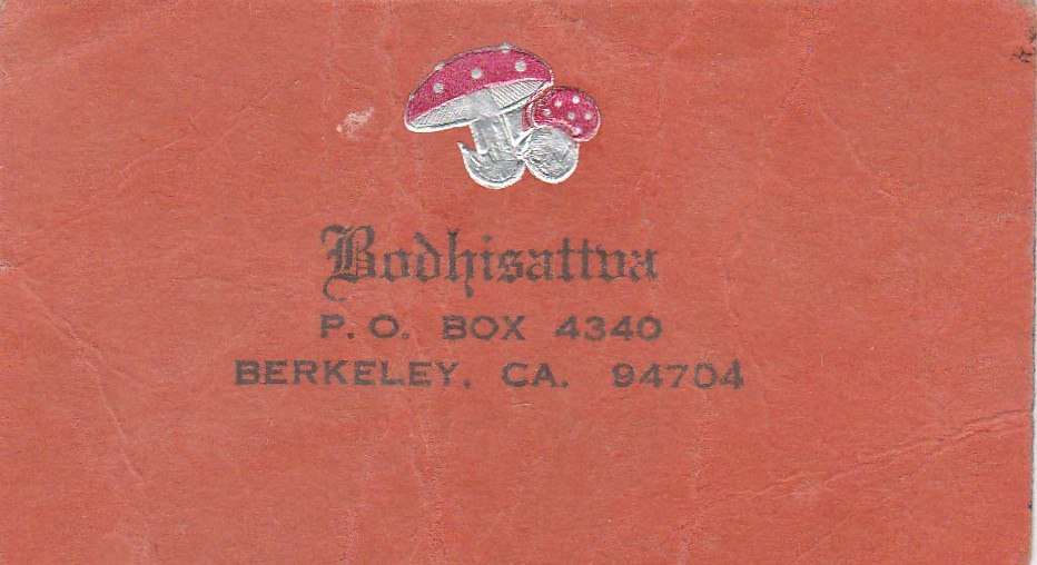 Bodhisattva (Leary Archives) business card, 1970.