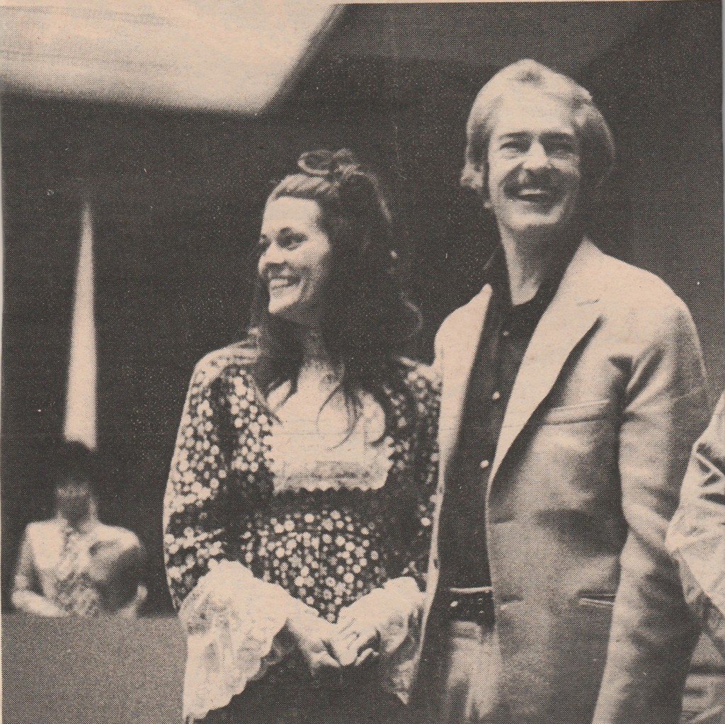 Tim and Rosemary in Santa Ana Courtroom prior to his sentencing on California charges, March 16, 1970. Photo: Robert Altman.