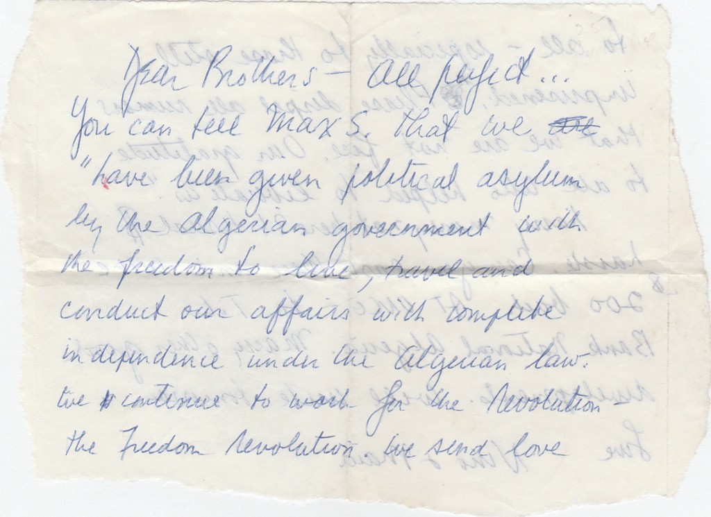 10. Letter April 1971